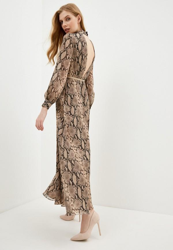 женское повседневные платье lusio, коричневое