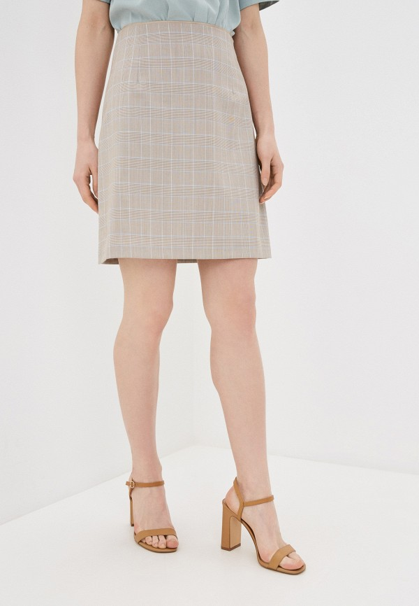 женская прямые юбка lusio, бежевая