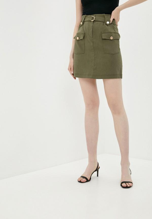 женская прямые юбка lusio, хаки