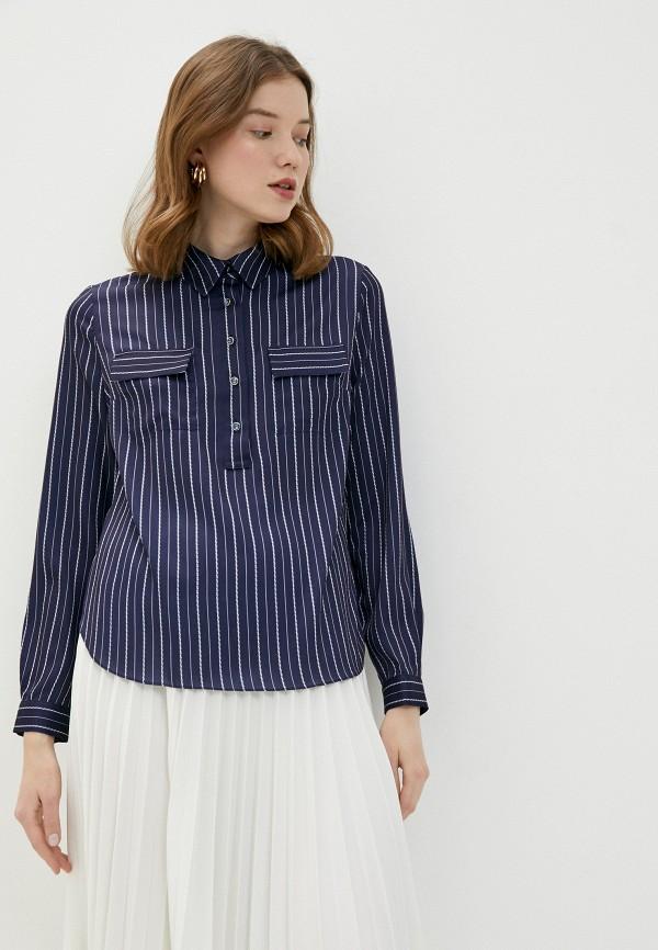 женская блузка lusio, синяя