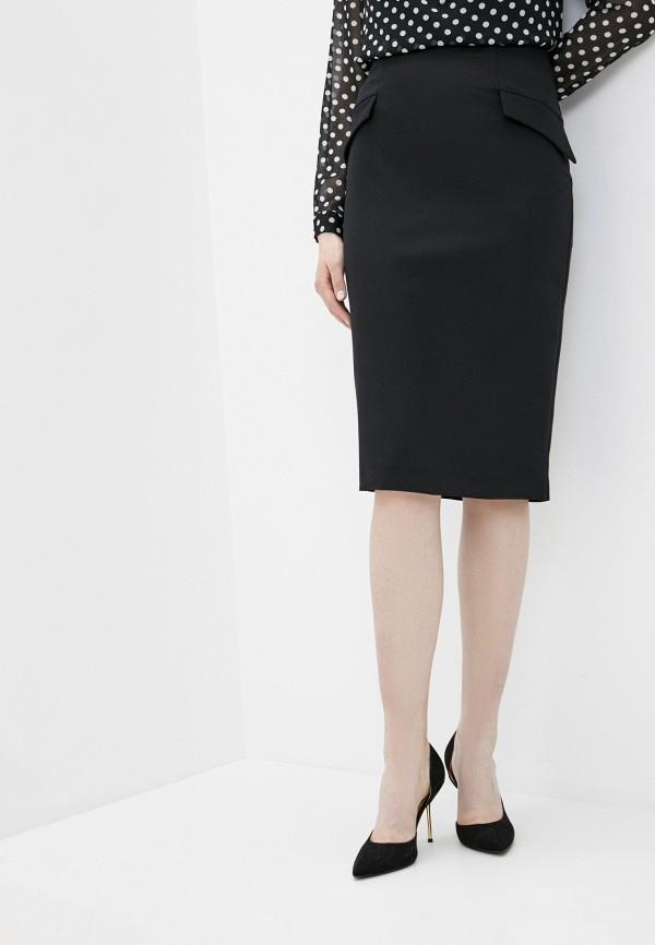 женская зауженные юбка lusio, черная