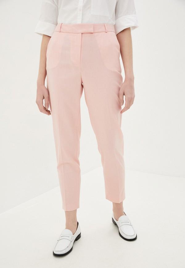 женские классические брюки lusio, розовые