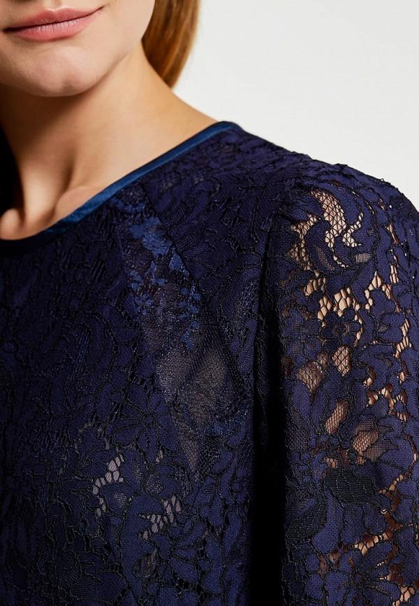 Фото 4 - женское платье Lusio синего цвета