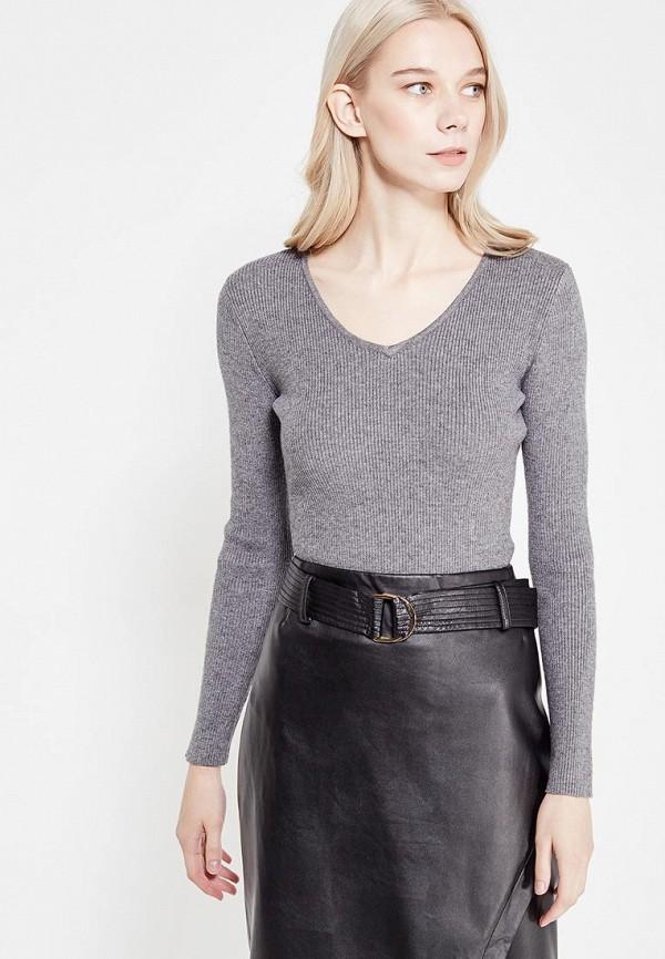 Фото - женский пуловер Lusio серого цвета