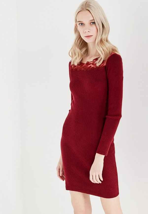 Фото - женское вечернее платье Lusio бордового цвета
