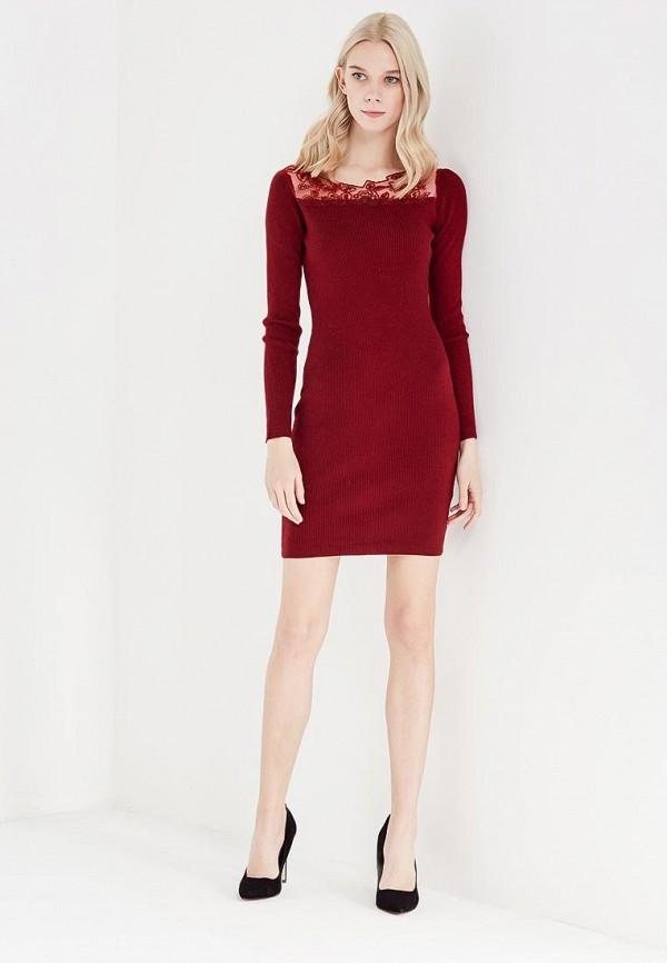 Фото 2 - женское вечернее платье Lusio бордового цвета