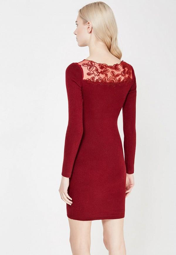Фото 3 - женское вечернее платье Lusio бордового цвета
