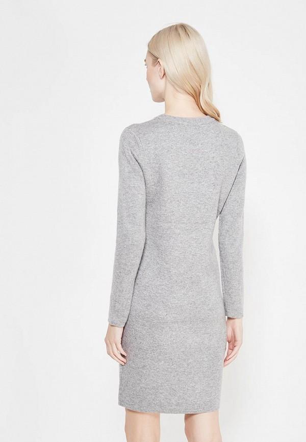 Фото 3 - женское вязаное платье Lusio серого цвета