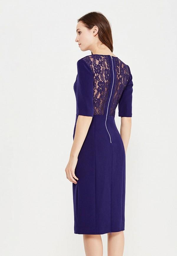 Фото 3 - женское платье Lusio синего цвета