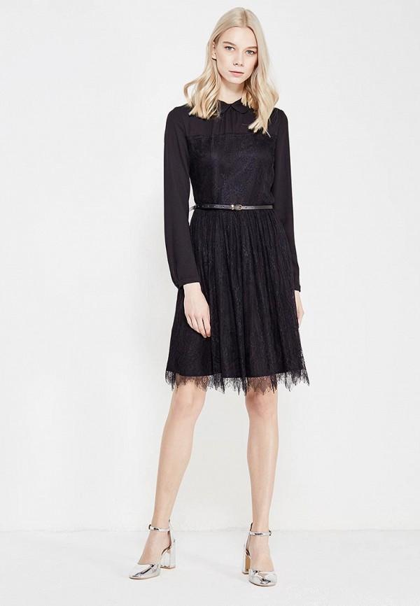 Фото 2 - женское платье Lusio черного цвета
