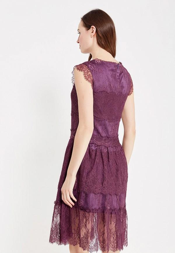 Фото 3 - женское вечернее платье Lusio фиолетового цвета