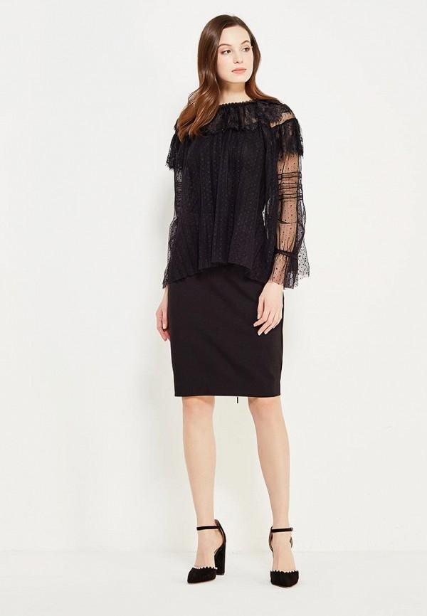 Фото 2 - женскую юбку Lusio черного цвета