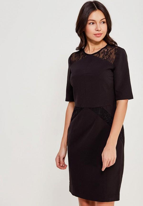 женское платье-футляр lusio, черное
