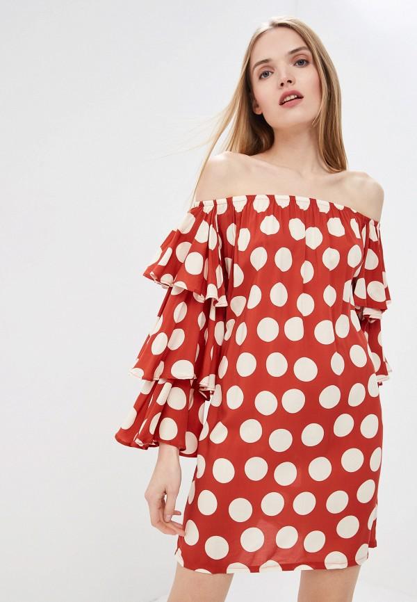 женское платье luli fama, красное