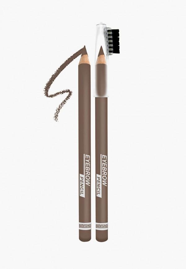 женский карандаш для бровей luxvisage, коричневый
