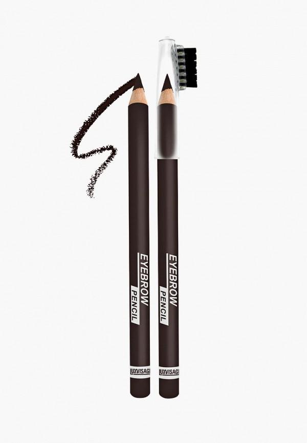 женский карандаш для бровей luxvisage, черный