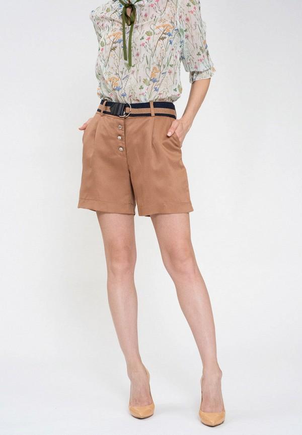 женские шорты luisa wang, коричневые
