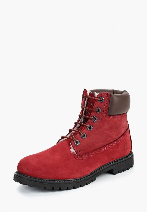 женские ботинки lumberjack, красные
