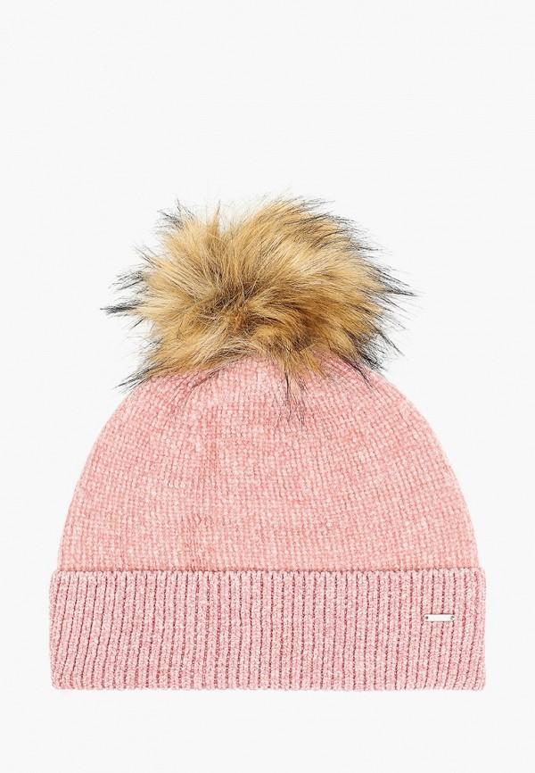 женская шапка luhta, розовая