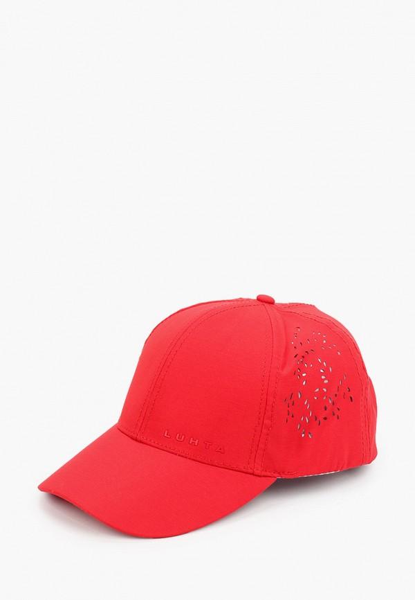 женская бейсболка luhta, красная