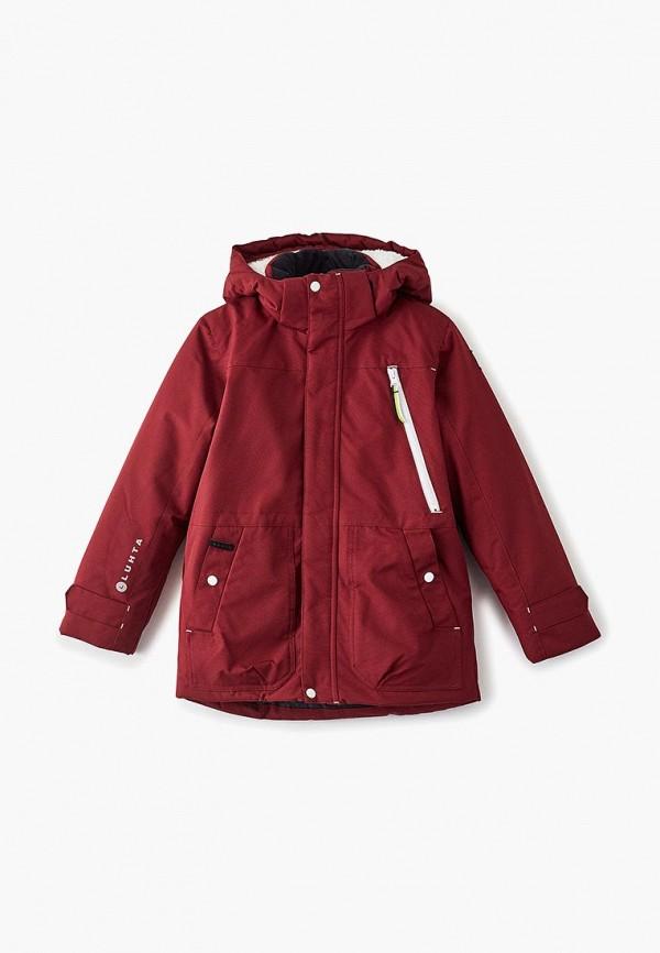 куртка luhta для мальчика, бордовая