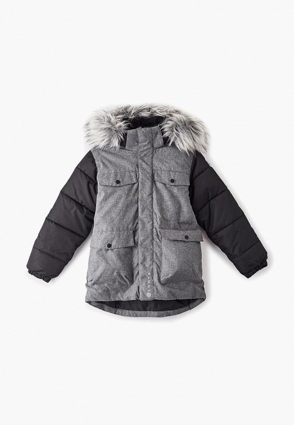 куртка luhta для мальчика, серая