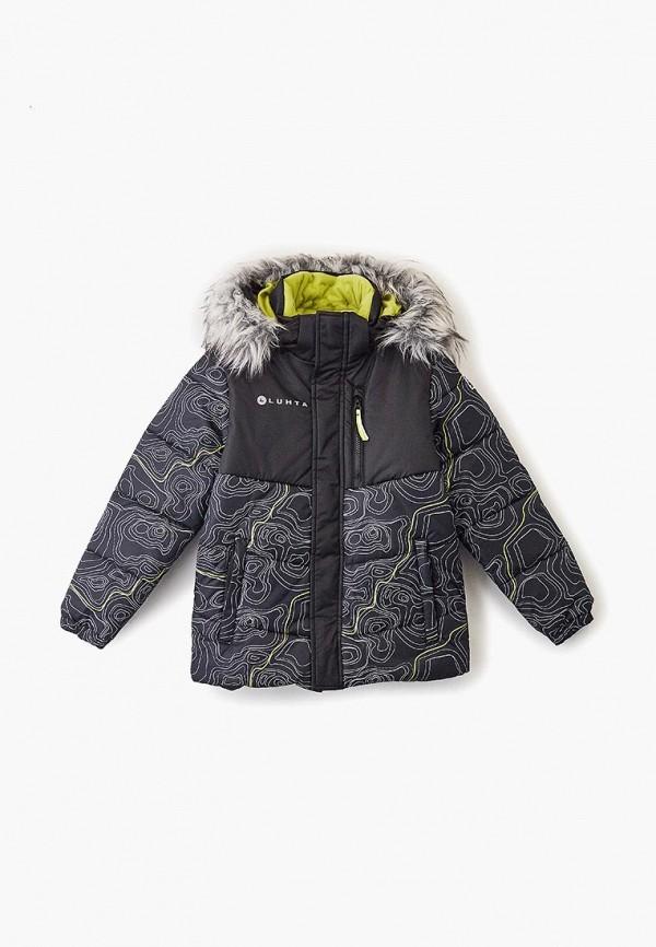 куртка luhta для мальчика, черная
