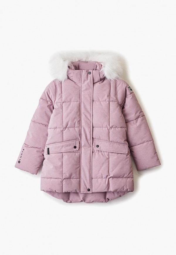 куртка luhta для девочки, розовая