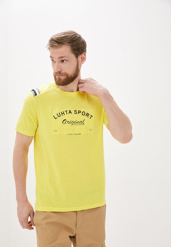 мужская спортивные футболка luhta, желтая