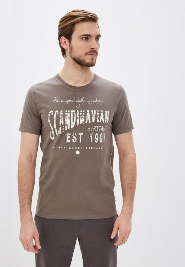Фото - Мужскую футболку Luhta цвета хаки