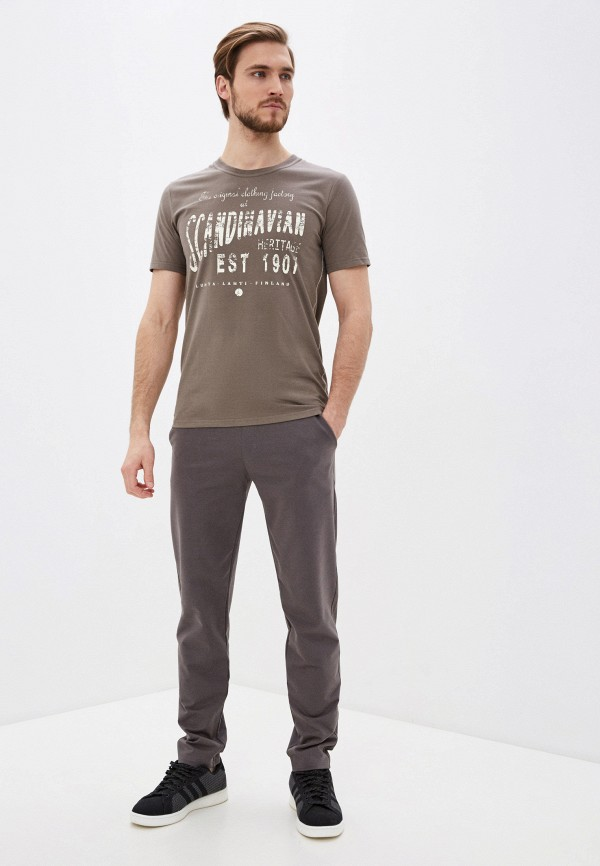 Фото 2 - Мужскую футболку Luhta цвета хаки
