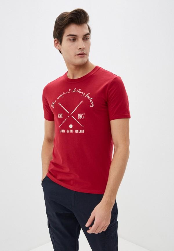 мужская спортивные футболка luhta, бордовая