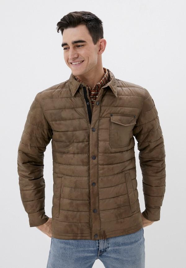 мужская куртка luhta, коричневая