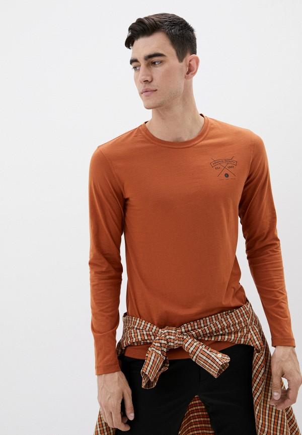 мужской лонгслив luhta, коричневый