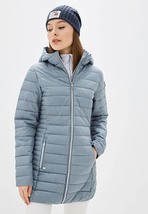 женская куртка luhta, голубая