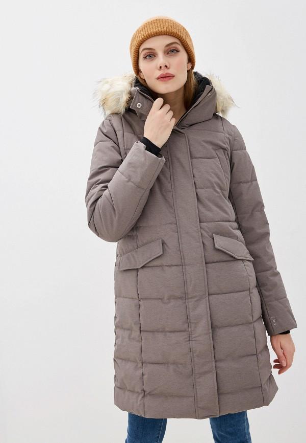женская куртка luhta, коричневая