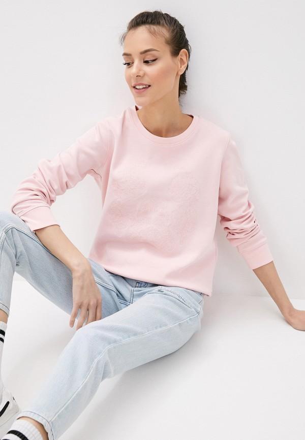 женский свитшот luhta, розовый