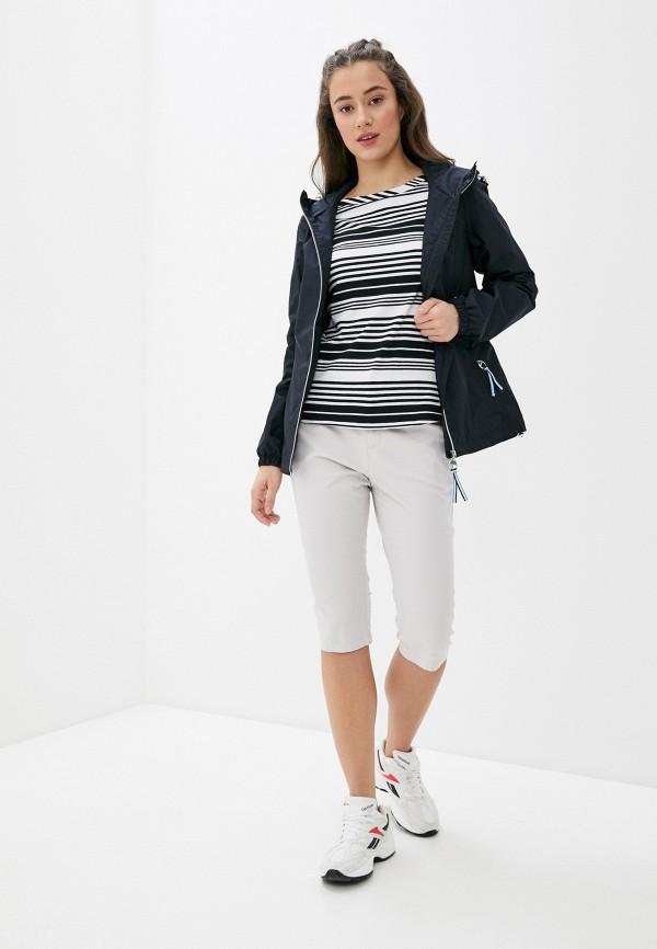 Фото 2 - Женские шорты Luhta серого цвета