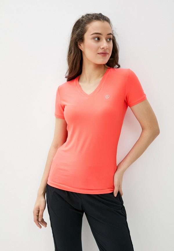 женская спортивные футболка luhta, розовая