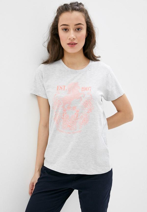 женская спортивные футболка luhta, серая