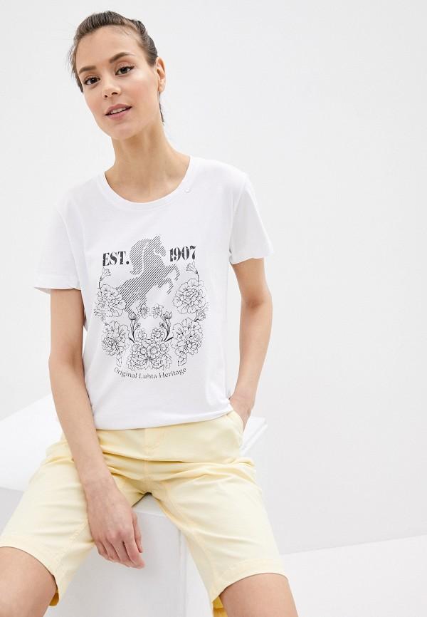 Фото - Женскую футболку Luhta белого цвета