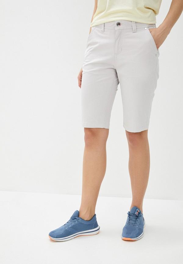 женские повседневные шорты luhta, серые