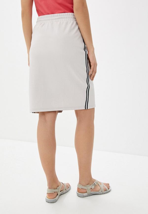Фото 3 - Женскую юбку Luhta бежевого цвета