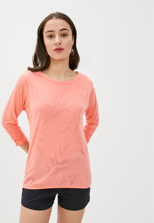 женский лонгслив luhta, розовый