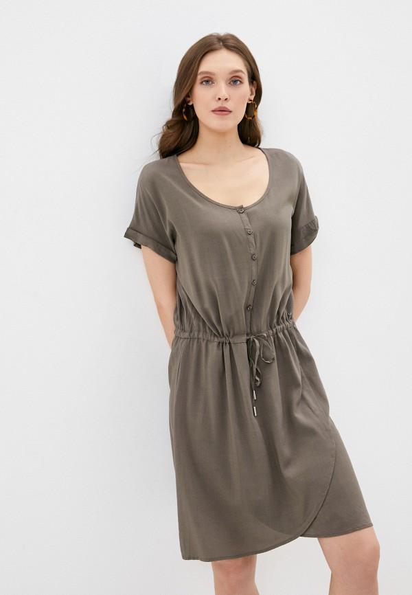 Фото - Женское платье Luhta цвета хаки