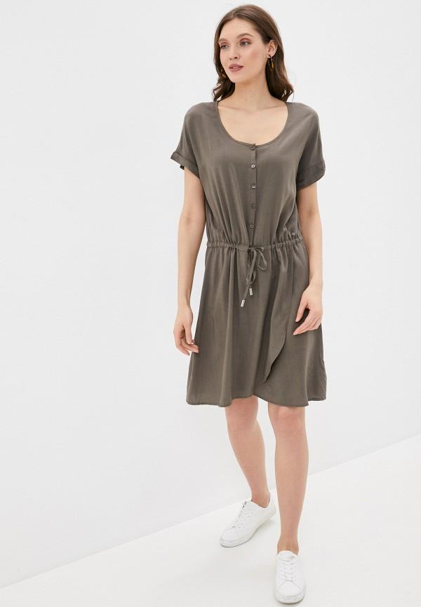 Фото 2 - Женское платье Luhta цвета хаки
