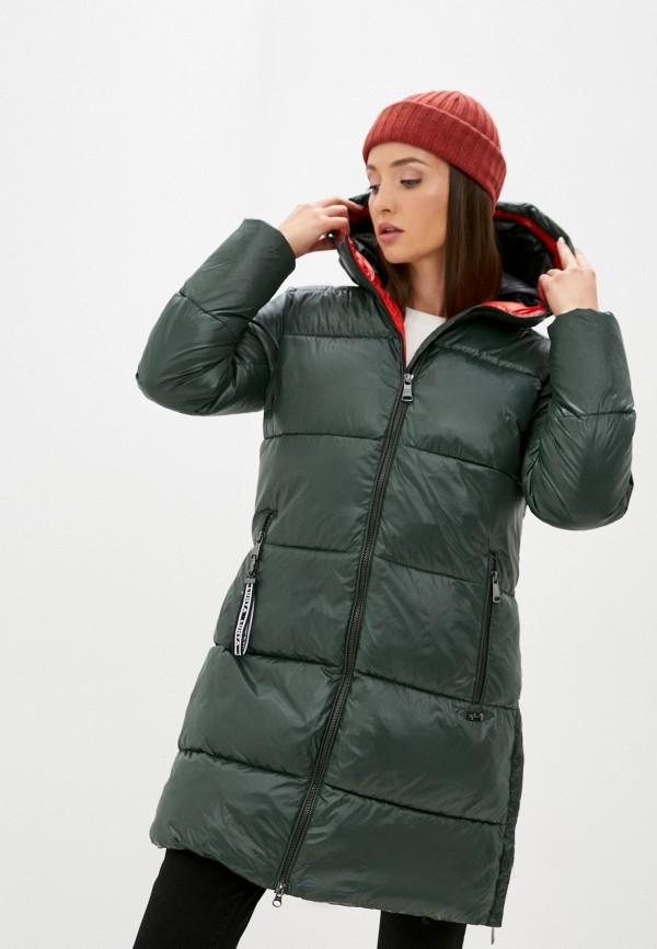 женская куртка luhta, зеленая
