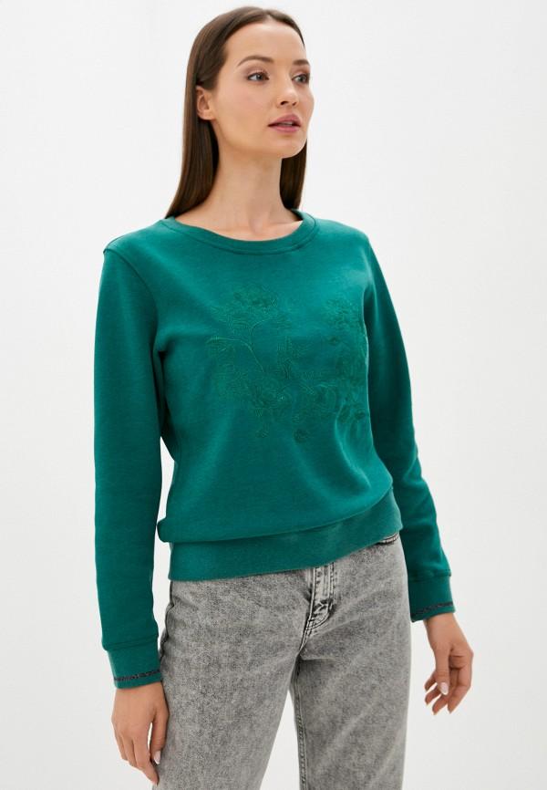 женский свитшот luhta, зеленый
