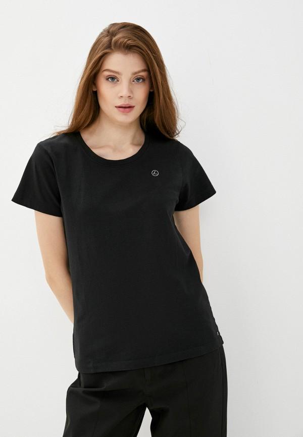 женская спортивные футболка luhta, черная