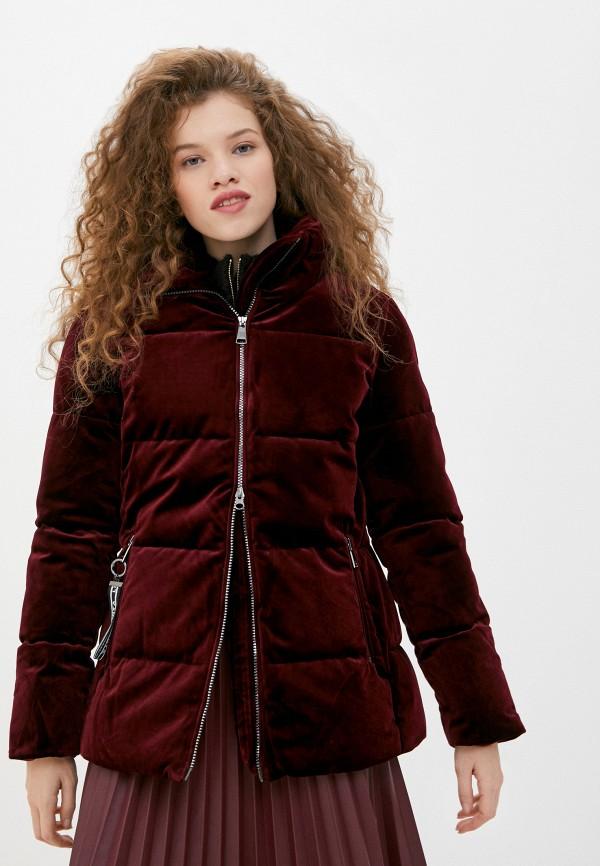 женская куртка luhta, бордовая